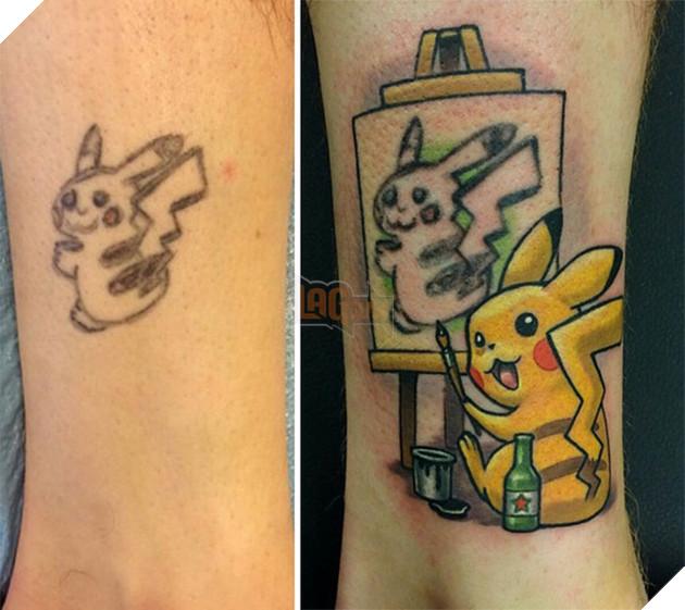 Sửa hình xăm Pikachu bị lỗi, ai cũng phải cười lăn khi thấy tác phẩm