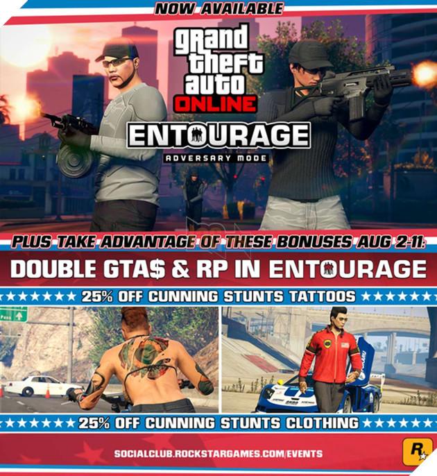 GTA V Online tiếp tục cập nhật, giới thiệu chế độ chơi mới, thêm sự kiện khuyến mãi