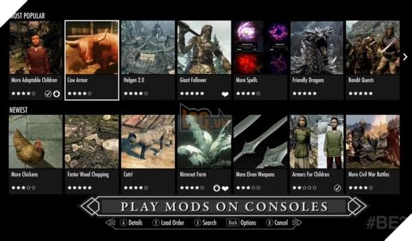 Mod Skyrim, Fallout 4 trên PS4 bị tạm ngưng, Bethesda đổ thừa ... Sony
