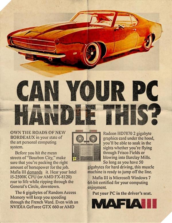 Muốn tham gia thế giới Mafia III thì máy tính nhà bạn cần cấu hình như thế nào ? 2