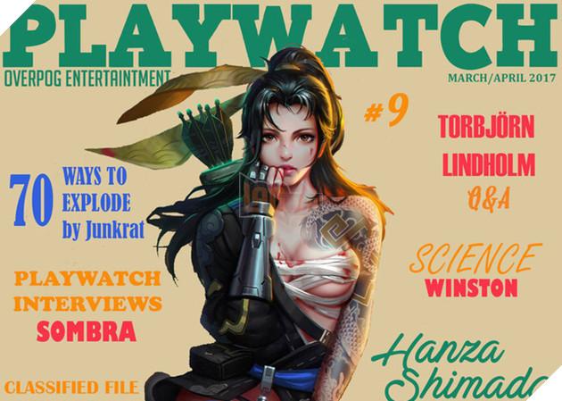 Bá đạo cuốn tạp chí 'người lớn' đề tài Overwatch