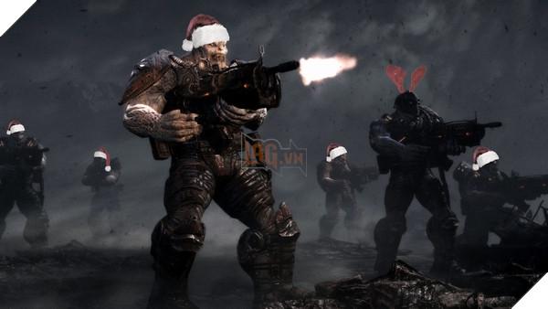 Gears of War 4 mừng giáng sinh với áo giáp màu mè cùng chế độ bắn tuyết 2
