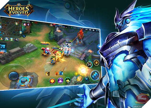 Heroes Evolved - Game MOBA cực khủng giống hệt LMHT cập bến Mobile