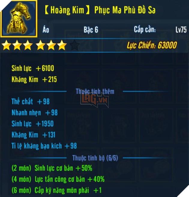 Võ Lâm Truyền Kỳ Mobile: Top 4 môn phái mạnh nhất khi sở hữu trang bị Hoàng Kim