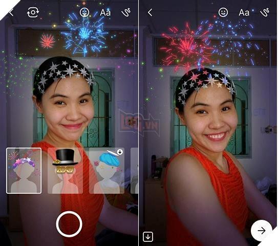 Tạo ảnh phong cách năm mới ngay trên Messenger