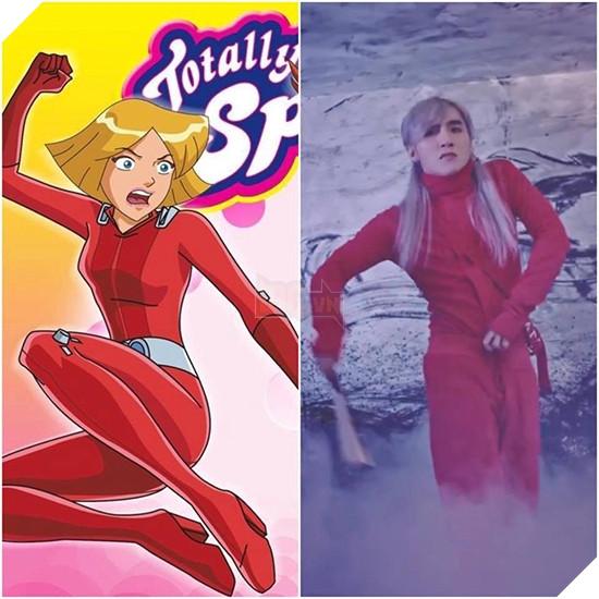 Sơn Tùng và nhân vật Clover trong bộ phim hoạt hình có nhiều nét tương đồng.