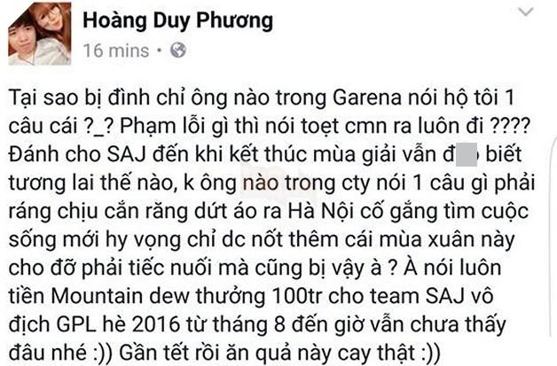 Bị cấm đánh VCSA Mùa Xuân, cựu sao SAJ tức giận bóc phốt Garena: quỵt hàng trăm triệu tiền thưởng của tuyển thủ
