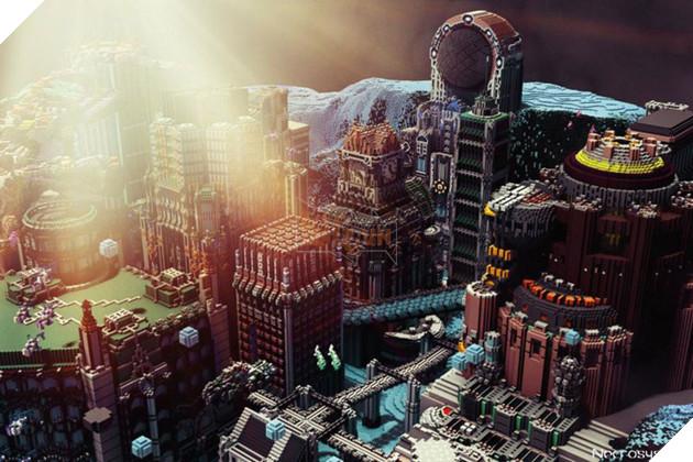 Thật khó tin đây là một công trình làm bằng Minecraft qua cái nhìn đầu tiên.