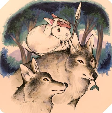 Công chúa sói Mononoke khi hóa thành thỏ (Princess Mononoke).