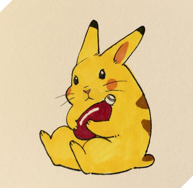 Chú thỏ Pikachu xinh yêu ghê.