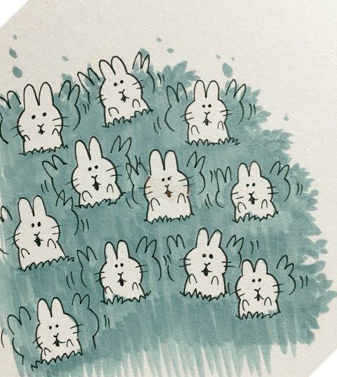 Những linh thần nhỏ Kodama vẫn thật hiền lành, dễ thương khi là những chú thỏ (Princess Mononoke).