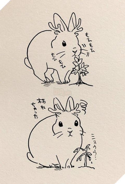 Khi thỏ trở thành thần rừng trong Princess Mononoke thì sẽ thế nào nhỉ.