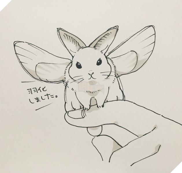 Ngạc nhiên với loạt ảnh khi các nhân vật trong anime bỗng nhiên hóa thành thỏ