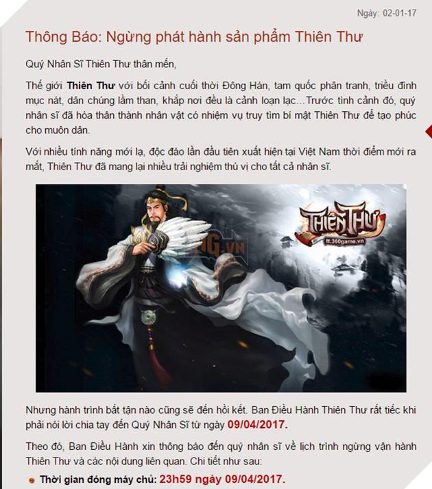 """Đầu năm mới 2017, hàng loạt game online cùng lúc bị """"khai tử"""" tại Việt Nam"""
