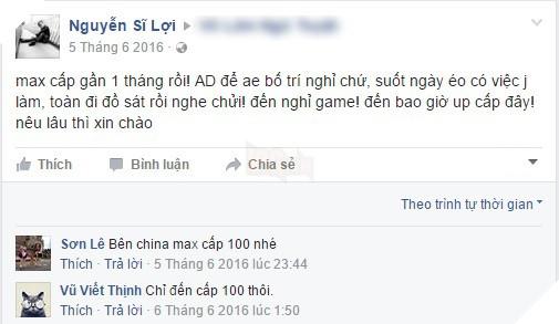 Chơi loáng đã max cấp – nỗi sợ của game thủ Việt