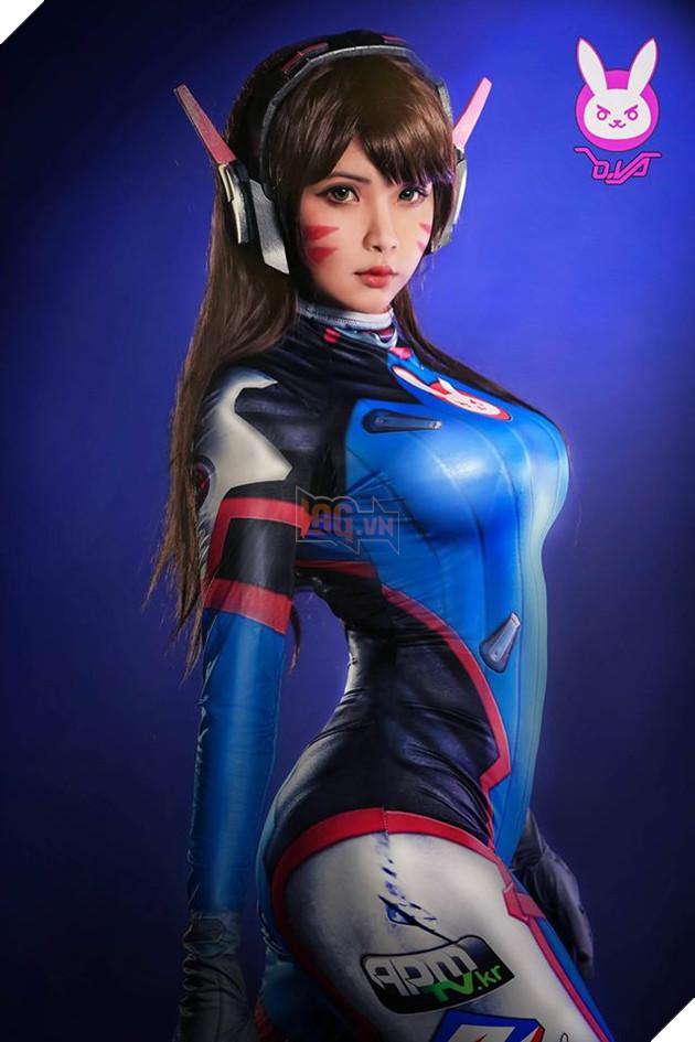 Cosplay D.Va tuyệt đẹp từ hot girl người Mỹ gốc Việt Hana Đinh