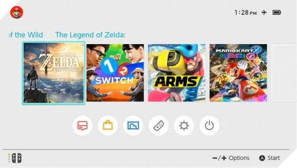 Giao diện Nintendo Switch cùng một tựa game mới được tiết lộ
