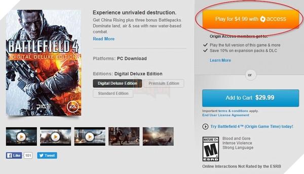 Toàn bộ các tựa game miễn phí trên EA/Origin Access 3