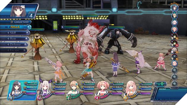 Hình ảnh về trận đấu trong Omega Quintet
