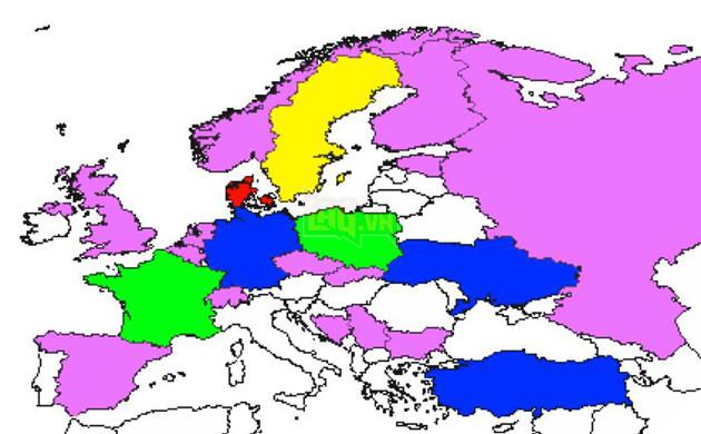 Zoom kỹ hơn vào khu vực Châu Âu