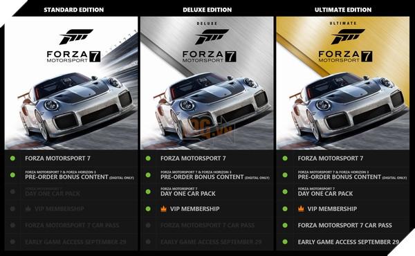 Chi tiết các phiên bản của Forza Motorsport 7