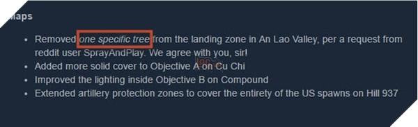 """Cập nhật mới rất """"Có tâm"""" của hãng phát triển Rising Storm 2: Vietnam"""