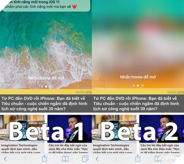 Trên iOS 11 Beta 2, khi kéo Notification Center xuống, phần hình nền được làm mờ và sẽ từ từ hiển thị rõ ràng hơn khi người dùng kéo xuống