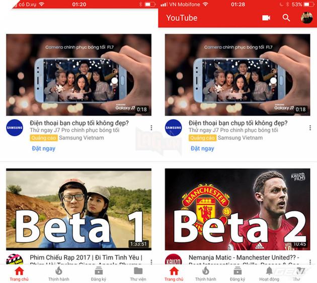 Trên iOS 11 Beta 1, thanh tìm kiếm của ứng dụng Youtube thường xuyên bị trắng và không thể sử dụng được. Vấn đề này đã được khắc phục trên Beta 2