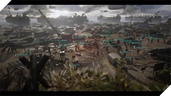 Hình ảnh lấy từ clip về chế độ Headquaters trong COD WWII