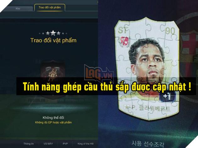 FIFA Online 3: Game thủ sắp được trải nghiệm tính năng ghép thẻ cầu thủ