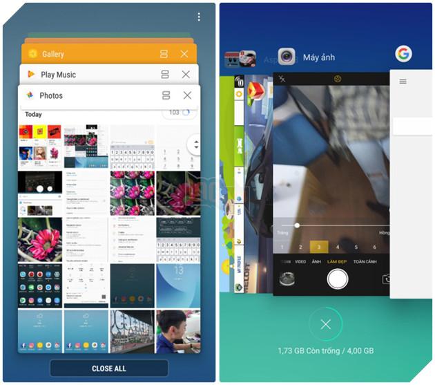 So sánh giao diện Samsung Galaxy J7 Pro và OPPO F3: Khác biệt không
