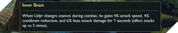 Riot bất ngờ làm lại Udyr, tướng hỗ trợ hot nhất hiện tại bị giảm sức mạnh