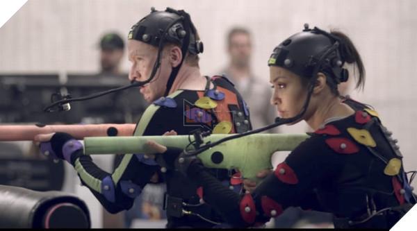 Các diễn viên đang ghi hình chuyển động cho vai của mình trong game