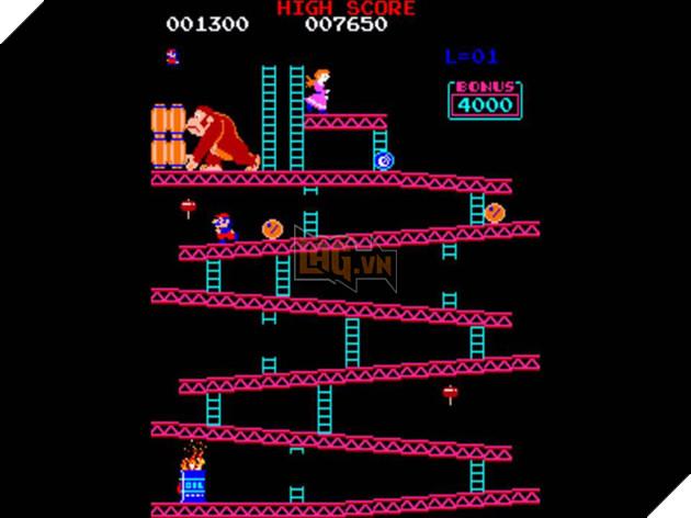 Trò chơi Donkey Kong huyền thoại.