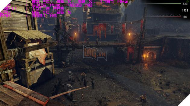 Tựa game Shadow Of Mordor với mức khung hình trung bình 108 fps khi benchmark