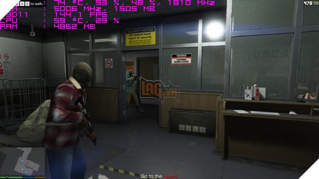 Tựa game GTA 5 với mức khung hình trung bình 144 fps cho trải nghiệm mượt mà