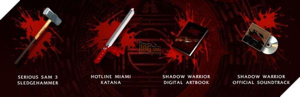 Hai món vũ khí từ Serious Sam 3 và Hotline Miami sẽ góp mặt trong bản Special Edition này