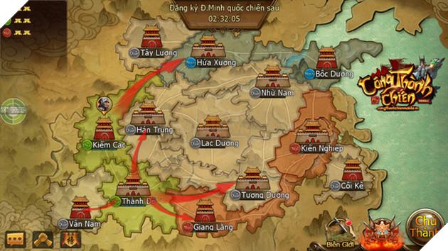 Quốc chiến và Công Thành là đặc trưng hấp dẫn của game SLG Tam Quốc
