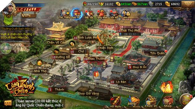 Xây thành và điều binh khiến tướng theo thời gian thực trong Công Thành Chiến Mobile