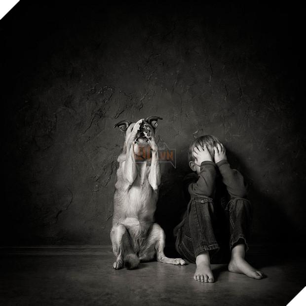 Bộ ảnh tình bạn đẹp tuyệt vời của em bé và các loài động vật - Ảnh 1.