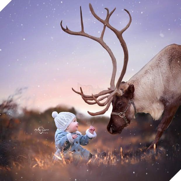 Bộ ảnh tình bạn đẹp tuyệt vời của em bé và các loài động vật - Ảnh 7.