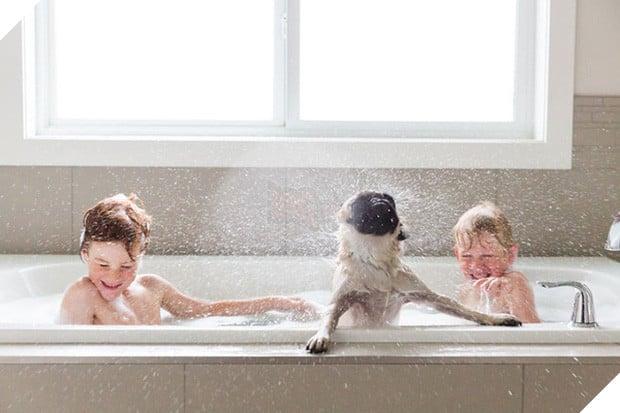 Bộ ảnh tình bạn đẹp tuyệt vời của em bé và các loài động vật - Ảnh 9.