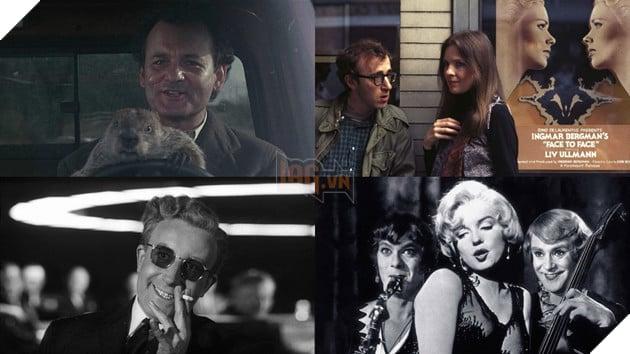 Bốn phim dẫn đầu danh sách: 'Some Like It Hot', 'Dr. Strangelove', 'Annie  Hall' và 'Groundhog Day'.
