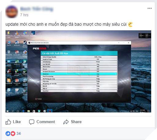 Game thủ nườm nượp hạ cấu hình PES 2018 vì game quá nặng