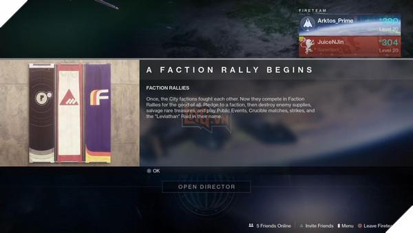 Bạn sẽ theo phe nào trong sự kiện Faction Rallies của Destiny 2?