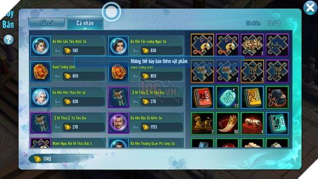VLTK Mobile: Game thủ điêu đứng khi tính năng Chợ tự do bị khóa không rõ lý do 2
