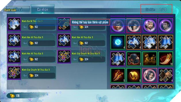 VLTK Mobile: Game thủ điêu đứng khi tính năng Chợ tự do bị khóa không rõ lý do
