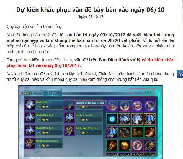 VLTK Mobile: Game thủ điêu đứng khi tính năng Chợ tự do bị khóa không rõ lý do 6
