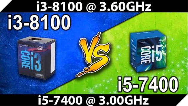So sánh sức mạnh Core i3 8100 và Core i5 7400 qua các tựa game phổ biến hiện nay
