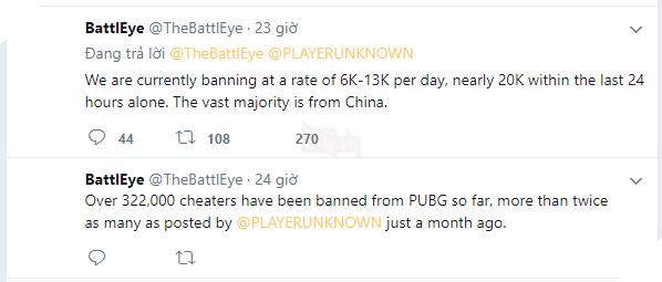Nếu bạn đang dùng hack trong PUBG, hãy dừng ngay điều đó, hơn 320.000 tài khoảng đã bị khóa vì hành vi này